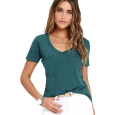 Zöld v-nyakú póló