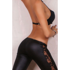 Sexy Legging  Fekete Csipke berakással