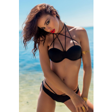 Sexy pántos fekete bikini