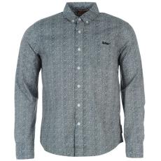 Lee Cooper gyerek ing - All Over Pattern - Lee Cooper Long Sleeve All Over Pattern Textile Shirt Boys