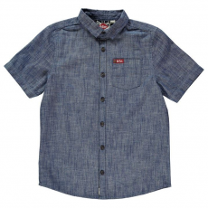 Lee Cooper gyerek ing - Denim - Lee Cooper Short Sleeve Denim Shirt Junior Boys