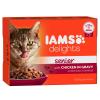 IAMS Delights Senior szószban - Csirke 24 x 85 g