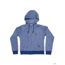 Dorko Férfi Végigzippes pulóver BASIC SWEAT HOODY BLUE MARL