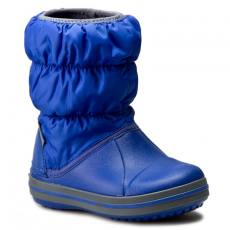 CROCS Hótaposó CROCS - Winter Puff Boot Kids 14613 Cerulean Blue/Light Grey