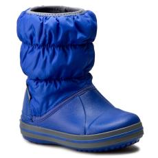 CROCS Hótaposó CROCS - Winter Puff Boot Kids 14613 Cerulean Blue/Light Grey