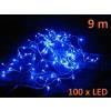 Karácsonyi LED világítás 9 m - kék, 100 dióda