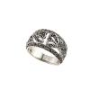 """""""Aion"""" valódi markazit köves antikolt ezüst gothic gyűrű, női méret"""