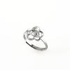 """""""Ezüstvirág"""" (""""Silver Flower"""") ródiumozott, kő nélküli, ultrakönnyű, az adott mérettől puszta kézzel is bővíthető gyűrű"""