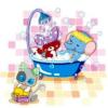 Fürdő állatos csempematrica