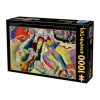 D-Toys puzzle, Kandinsky - Painting with red spot, 1000 darab (5947502872849_KA02)