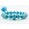 BBH Inspiration Swarovski turquoise gyöngy karkötő, kristály dísszel
