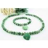 BBH Inspiration Zöld pettyes jáde karkötő-nyaklánc szett