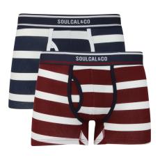 SoulCal Block Stripe férfi alsónadrág szürke M