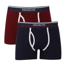 SoulCal Plain férfi alsónadrág tengerészkék S