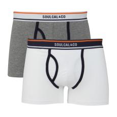 SoulCal Plain férfi alsónadrág fehér M