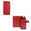 Apple iPhone 6 / 6S, Oldalra nyíló tok + kivehető TPU szilikon tok, Smart 2in1, piros