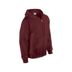 GILDAN cipzáros pulóver kapucnival, maroon