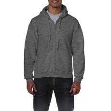 GILDAN cipzáros pulóver kapucnival, sötétszürke
