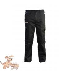 Julius-K9 K9 pamut nadrág, fekete-bézs, cipzározható szárral - impregnált, - méret 34 (-től)
