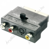 SpeaKa Professional SCART dugó/3 x RCA alj - S-Video alj adapter, átkapcsolós, SpeaKa 50157
