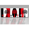 Byhome Digital Art vászonkép | 1216-S Tricolorato Salto Tree CUBE