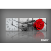 Byhome Vászonkép Faliórával H507 grigio rosa