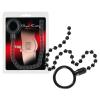 Bad Kitty Bad Kitty - erekciógyűrű análgyöngysorral (fekete)
