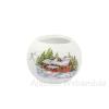 Téli házikós mécsestartó gömb, többféle méretben