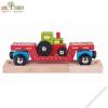 Bigjigs traktort szállító vagon - favonat kiegészítő