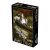 D-Toys James Tissot Puzzle, On the Thames. A Heron, 1000 darabos (5947502872771_TI01)