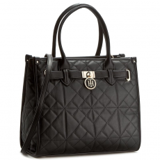 Tommy Hilfiger Táska TOMMY HILFIGER - American Icon Tote Quilted AW0AW03172 002