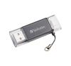 "Verbatim Pendrive, 32GB, USB 3.0, Lightning csatlakozó, VERBATIM ""Lightning"" grafit szürke pendrive"