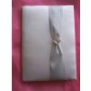 Ezüsz szettből-vendégkönyv ezüst díszítéssel (A/5- sima lapos)