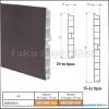 Forest Lábazati előlap 150mm-4fm Matt alumínium