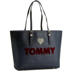 Tommy Hilfiger Táska TOMMY HILFIGER - Honey Ew Tote Embroidered AW0AW03259 902