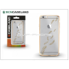 BCN Caseland Apple iPhone 6/6S szilikon hátlap - BCN Caseland Feathers Oro - gold/transparent