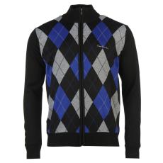 Pierre Cardin Férfi cipzáras kötött pulóver fekete XL
