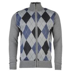 Pierre Cardin Férfi cipzáras kötött pulóver kék M
