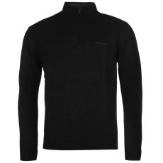 Pierre Cardin Férfi cipzáras nyakú pulóver fekete S