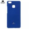 Huawei P9 Lite, TPU szilikon tok, Mercury Goospery, csillámporos, sötétkék