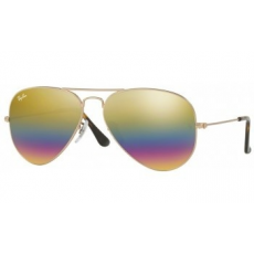 Ray-Ban RB3025 9018C3 AVIATOR METLALLIC MEDIUM BRONZE LIGHT GREY MIRROR RAINBOW 2 napszemüveg