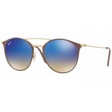 Ray-Ban RB3546 90118B GOLD TOP BEIGE BLUE FLASH GRADIENT napszemüveg