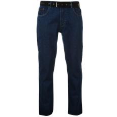 Pierre Cardin Férfi farmernadrág övvel kék 40W R