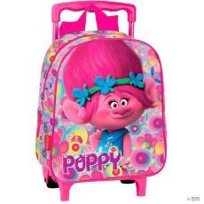 PERONA gurulós táska Trolls Poppy virágos 28cm gyerek