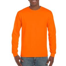 GILDAN hosszú ujjú környakas póló, biztonsági narancs