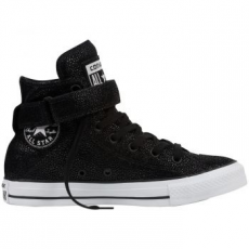 Converse Chuck Taylor All Star Brea Hi Leather női tornacipő, Black Pearl/Black, 35 (553341C-880-5)