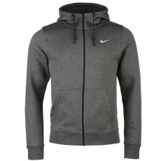Nike Fundamentals férfi kapucnis cipzáras pamut pulóver sötétszürke XL