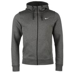 Nike Fundamentals férfi kapucnis cipzáras pamut pulóver sötétszürke S