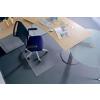 RS OFFICE Székalátét, kemény felületre, E forma, 75x120 cm, RS OFFICE