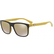 Emporio Armani EA4085 55556E TOP BROWN ON YELLOW LIGHT BROWN MIRROR GOLD napszemüveg